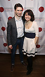 """Matthew Cohen and Zhenni Li attend the Opening Night Celebration for Ensemble for the Romantic Century Off-Broadway Premiere of<br />""""Maestro"""" at the West Bank Cafe on January 15, 2019 in New York City."""