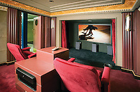 Home Theater With Tray Ceiling