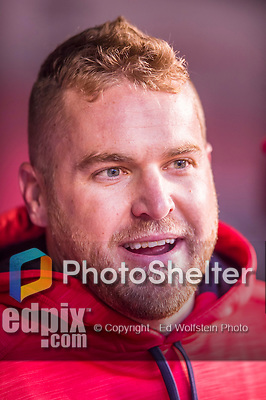 28 April 2016: Washington Nationals pitcher Shawn Kelley watches play from the dugout after pitching a sit-out inning against the Philadelphia Phillies at Nationals Park in Washington, DC. The Phillies shut out the Nationals 3-0 to sweep their mid-week, 3-game series. Mandatory Credit: Ed Wolfstein Photo *** RAW (NEF) Image File Available ***