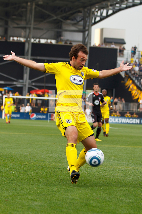 26 JUNE 2010:  Adam Moffat of the Columbus Crew (22) during MLS soccer game between DC United vs Columbus Crew at Crew Stadium in Columbus, Ohio on May 29, 2010. The Crew defeated DC United 2-0.