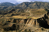 Near Maca, Arequipa Dept, Peru. Track linking Inca and pre-Inca terracing in the Colca Canyon.
