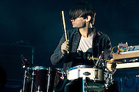 RadioHead at the 2012 Bonnaroo Music Festival in Manchester, Tennessee. June 8, 2012. Credit: Jen Maler / MediaPunch Inc. NORTEPHOTO.COM<br />