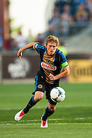 Brian Carroll (7) of the Philadelphia Union. The Philadelphia Union defeated the Columbus Crew 3-0 during a Major League Soccer (MLS) match at PPL Park in Chester, PA, on June 5, 2013.