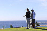 Jon Rahm (ESP) on the 7th tee during Sunday's Final Round of the 2018 AT&amp;T Pebble Beach Pro-Am, held on Pebble Beach Golf Course, Monterey,  California, USA. 11th February 2018.<br /> Picture: Eoin Clarke | Golffile<br /> <br /> <br /> All photos usage must carry mandatory copyright credit (&copy; Golffile | Eoin Clarke)