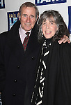 Jim Dale & Julie Schafler.attending the Broadway Opening Night Performance of 'LEAP OF FAITH' on 4/26/2012 at the St. James Theatre in New York City. © Walter McBride/WM Photography .