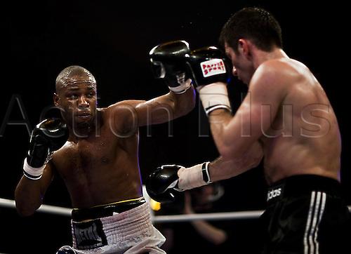 01 01 2010  Igor Michalkin RUS Doudou  FRA boxing Light Heavyweight 8 Rounds Universe Champions Night ZDF boxing.