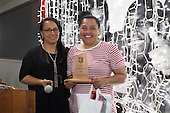 Heat Most Improved Player of the Year Te Kura Ngata-Aerengamate with Coach Davida White. Counties Manukau Rugby Unions Senior Prize giving held at ECOLight Stadium Pukekohe on Wednesday November 2nd, 2016.<br /> Photo by Richard Spranger.