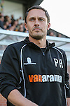 Paul Hurst of Grimsby Town looks on before the Vanamara Conference Play Off Semi Final First Leg match between Eastleigh and Grimsby Town at The Silverlake Stadium, Eastleigh<br /> Picture by David Horn/eXtreme aperture photography +44 7545 970036<br /> 30/04/2015