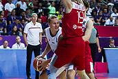 7th September 2017, Fenerbahce Arena, Istanbul, Turkey; FIBA Eurobasket Group D; Latvia versus Turkey; Forward Janis Timma #10 of Latvia in action against Center Furkan Aldemir of Turkey