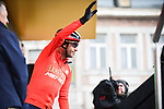 Vincenzo Nibali (ITA) Bahrain-Merida at sign on before the start of the 105th edition of Liège-Bastogne-Liège 2019, La Doyenne, running 256km from Liege to Liege, Belgium. 28th April 2019<br /> Picture: ASO/Gautier Demouveaux | Cyclefile<br /> All photos usage must carry mandatory copyright credit (© Cyclefile | ASO/Gautier Demouveaux)