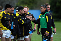 Lions assistant coach Rodney So'oialo thanks Carlos Price after the Mitre 10 Cup preseason rugby match between the Wellington Lions and Manawatu Turbos at Otaki Domain in Otaki, New Zealand on Sunday, 6 August 2017. Photo: Dave Lintott / lintottphoto.co.nz