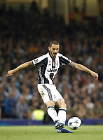 Calcio, Champions League: finale Juventus vs Real Madrid. Cardiff, Millennium Stadium, 3 giugno 2017.<br /> Juventus' Leonardo Bonucci in action during the Champions League final match between Juventus and Real Madrid at Cardiff's Millennium Stadium, Wales, June 3, 2017. Real Madrid won 4-1.<br /> UPDATE IMAGES PRESS/Isabella Bonotto