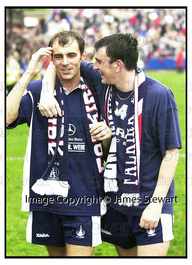 29th April 200         Copyright Pic : James Stewart .Ref :                           .File Name : stewart16-falkirk v inverness                        .JAMIE MCQUILKEN AND ANDY SEATON AT THE END OF THE MATCH.... .Payments to :-.James Stewart Photo Agency, Stewart House, Stewart Road, Falkirk. FK2 7AS      Vat Reg No. 607 6932 25.Office : +44 (0) 1324 630007        Mobile : 07721 416997.Fax     : +44 (0) 1324 630007.E-mail : jim@jspa.co.uk.If you require further information then contact Jim Stewart on any of the numbers above.........