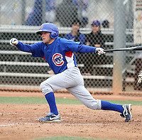 Pierre LePage of the Chicago Cubs participates in intrasquad spring training games at the Cubs complex on March 21, 2011  in Mesa, Arizona. .Photo by:  Bill Mitchell/Four Seam Images.