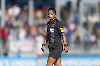 Bradenton, FL - Sunday, June 10, 2018: Referee during a U-17 Women's Championship match between the United States and Haiti at IMG Academy.  USA defeated Haiti 3-2 to advance to the finals.