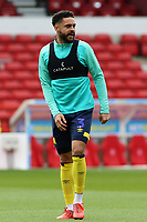 Blackburn Rovers' Derrick Williams during the pre-match warm-up <br /> <br /> Photographer David Shipman/CameraSport<br /> <br /> The EFL Sky Bet Championship - Nottingham Forest v Blackburn Rovers - Saturday 13th April 2019 - The City Ground - Nottingham<br /> <br /> World Copyright © 2019 CameraSport. All rights reserved. 43 Linden Ave. Countesthorpe. Leicester. England. LE8 5PG - Tel: +44 (0) 116 277 4147 - admin@camerasport.com - www.camerasport.com