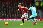 Bastian Schweinsteiger of Manchester United passes West Ham's Victor Moses - Manchester United vs West Ham United - Barclay's Premier League - Old Trafford - Manchester - 05/12/2015 Pic Philip Oldham/SportImage