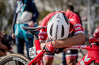 Fabio Felline (ITA/Trek-Segafredo) after finishing the 101th Ronde Van Vlaanderen 2017 (1.UWT)<br /> <br /> 1day race: Antwerp &rsaquo; Oudenaarde - BEL (260km)