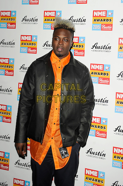 LONDON, ENGLAND - FEBRUARY 18: Bipolar Sunshine attending the NME Awards at Brixton Academy on February 18 2015 in London, England.<br /> CAP/MAR<br /> &copy; Martin Harris/Capital Pictures