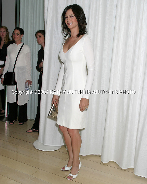 """©2004 KATHY HUTCHINS /HUTCHINS PHOTO.200 SHOW PARTY FOR """"JAG"""".LOS ANGELES, CA.APRIL 12, 2004..CATHERINE BELL"""