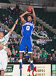 New Orleans Privateers guard Brandon Knight (0) in action during the game between the New Orleans Privateers and the University of North Texas Mean Green at the North Texas Coliseum,the Super Pit, in Denton, Texas. UNT defeated UNO 78 to 47.....
