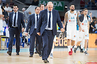 Real Madrid coach Pablo Laso during Turkish Airlines Euroleague match between Real Madrid and Khimki Moscow at Wizink Center in Madrid, Spain. November 02, 2017. (ALTERPHOTOS/Borja B.Hojas) /NortePhoto.com