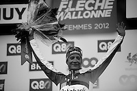 Fleche Wallonne 2012..Marianne Vos 2nd in female Fleche Wallonne.