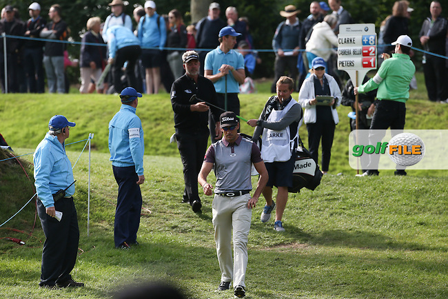Rafa Cabrera-Bello (ESP) birdies the 2nd during Round Two of the 2016 BMW PGA Championship over the West Course at Wentworth, Virginia Water, London. 27/05/2016. Picture: Golffile | David Lloyd. <br /> <br /> All photo usage must display a mandatory copyright credit to &copy; Golffile | David Lloyd.