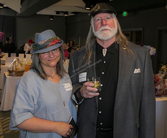 Rosemary Hill and Clint Holeman during the Derby Day fundraiser for the Reno Chamber Orchestra at the Renaissance Reno on Saturday, May 4, 2019.