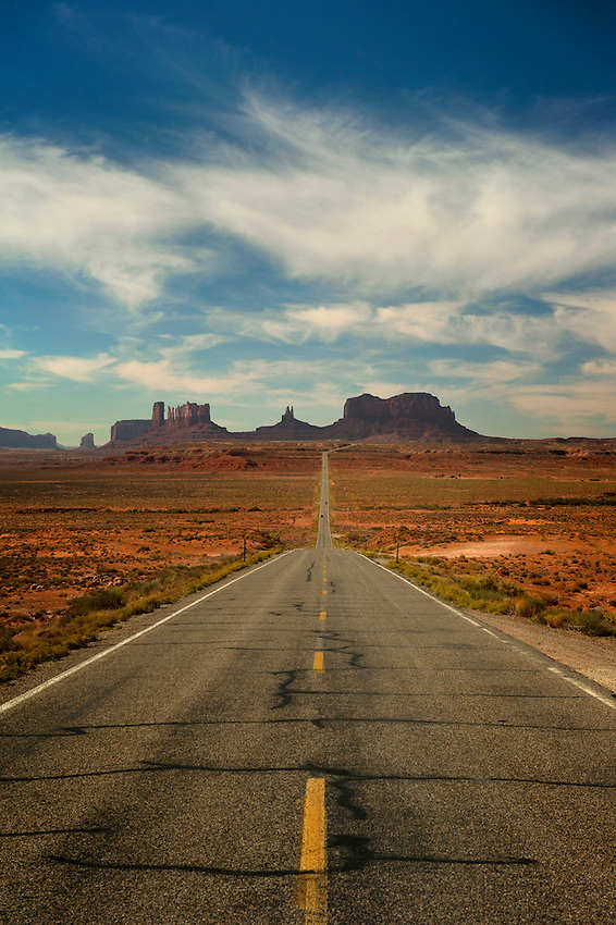 Monument Valley, Utah. According to the marker on the side of the road, this is where Forest Gump decided to go home. Review of the movie confirms.