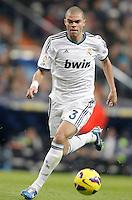 Real Madrid's Pepe during La Liga Match. December 02, 2012. (ALTERPHOTOS/Alvaro Hernandez)