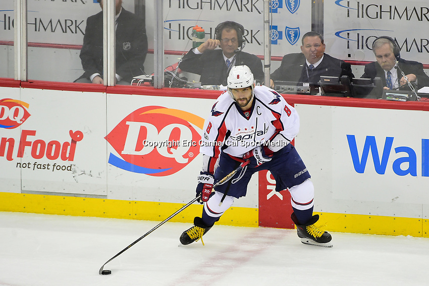 May 8, 2017: Washington Capitals left wing Alex Ovechkin (8) in game action during game 6 of the second round of the National Hockey League Eastern Conference Stanley Cup Playoffs between the Washington Capitals and the Pittsburgh Penguins, held at PPG Paints Arena, in Pittsburgh, PA. Washington defeats Pittsburgh 5-2 to tie the best of seven series 3-3. Eric Canha/CSM