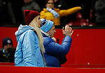 Oleksandr Zinchenko of Manchester City and his girlfriend applaud the fans during the Carabao Cup match at Old Trafford, Manchester. Picture date: 7th January 2020. Picture credit should read: Darren Staples/Sportimage