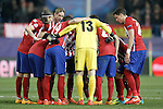 Atletico de Madrid's players before extra time during UEFA Champions League match. March 15,2016. (ALTERPHOTOS/Acero)