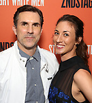 Paul Schneider and wife attend the Broadway Opening Night after party for 'Straight White Men' Broadway Opening Night at DaDong on July 23, 2018 in New York City