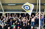 BETALBILD Uppsala 2015-03-10 Bandy Elitseriekval IK Sirius - Falu BS :  <br /> Sirius supportrar med bar &ouml;verkropp jublar efter matchen mellan IK Sirius och Falu BS <br /> (Foto: Kenta J&ouml;nsson) Nyckelord:  Bandy Elitserien Elitseriekval Kval Kvalserien Uppsala Studenternas IP IK Sirius IKS Falun Falu BS supporter fans publik supporters jubel gl&auml;dje lycka glad happy glad gl&auml;dje lycka leende ler le