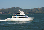 San Francisco, California: Passenger ferry in early morning on San Francisco Bay. Photo 16-casanf78188. Photo copyright Lee Foster.