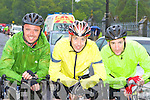 The Wheel Deal: Tralee cyclists at the Ring of Kerry cycle in Killarney Saturday morning l-r: Cieran Diffley, Barry Murphy and George Dowling.
