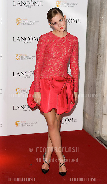 Emma Watson arriving for the Lancome pre BAFTA party at the Savoy Hotel in London, 10/02/2012  Picture by: Simon Burchell / Featureflash