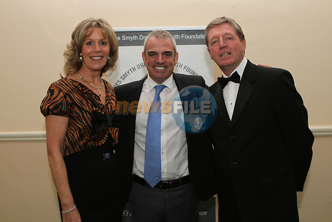 Des and Vicki Smyth with European Ryder Cup captain Paul McGinley at the Des Smyth Foundation Ball in the Boyne Valley Hotel, Drogheda...(Photo credit should read Jenny Matthews/NEWSFILE)...