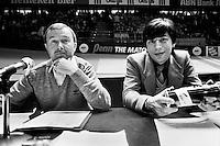 1982, ABN WTT, Speaker Wout Dijkhuizen en Peter Bonthuis (r)