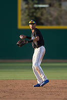 Sandra Day O'Connor Eagles shortstop Jayce Easley (3) during a game against Mountain Ridge High School at Brazell Field at GCU on April 19, 2018 in Glendale, Arizona. Mountain Ridge defeated Sandra Day O'Connor 2-1. (Zachary Lucy/Four Seam Images)