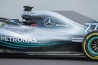 Bottas, Formula 1 pilot of the Mercedes Team, shooting during the second day of the test days of Formula 1, held at the Catalunya circuit (Montmelo) Catalonia February 27th  of 2018
