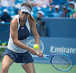 Tsvetana Pironkova (BUL) loses to Serena Williams (USA), 7-5, 6-1 at the Western and Southern Open in Mason, OH on August 19, 2015.