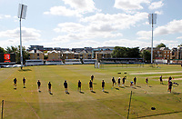 Essex players are warmed up by Harry McQueen prior to Essex CCC vs Kent CCC, Bob Willis Trophy Cricket at The Cloudfm County Ground on 2nd August 2020