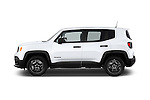 Car Driver side profile view of a2015 JEEP Renegade Sport 5 Door Suv Side View