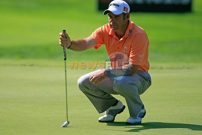 Hennie Otto (RSA) in action on the 5th green during Day 3 of the BMW Italian Open at Royal Park I Roveri, Turin, Italy, 11th June 2011 (Photo Eoin Clarke/Golffile 2011)