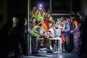 London, UK. 24.09.2015. English National Opera presents LADY MACBETH OF MTSENSK, at the London Coliseum. Directed by Dmitri Tcherniakov. Picture shows: John Daszak (Sergei) and the company. Photograph © Jane Hobson.
