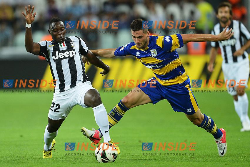 "Kwadwo Asamoah Juventus, Aleandro Rosi Parma.Torino 25/8/2012 ""Juventus"" stadium.Football Calcio 2012/2013 Serie A.Juventus Vs Parma.Foto Andrea Staccioli Insidefoto"