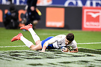 9th February 20020, Stade de France, Paris, France; 6-Nations international mens rugby union, France versus Italy;  The try scored by Romain Ntamack (France )